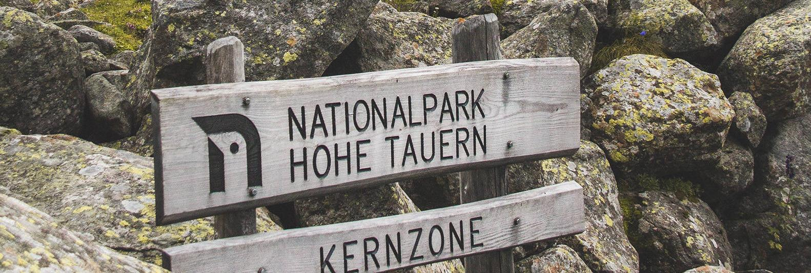 Sign Core Zone Hohe Tauern National Park